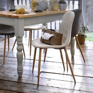 Modern Upholstered Dining Chair - Cream
