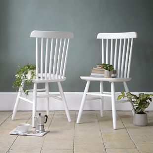 Spindleback Chair - Pure White