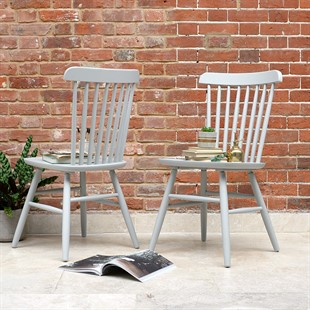 Spindleback Chair - Dove Grey