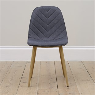 Modern Upholstered Dining Chair - Ink Blue