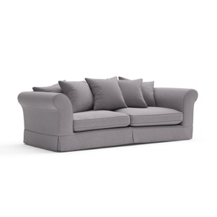 Wilson - 3.5 Seater - Mid grey - Cotswold Weave