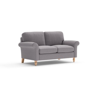Hurley - 2 Seater - Mid grey - Cotswold Weave