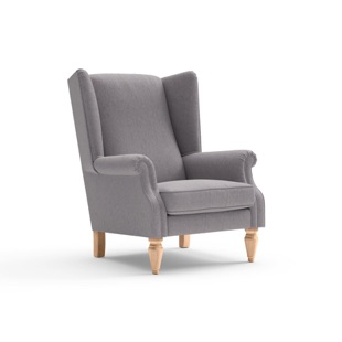 Alice - Armchair - Mid grey - Cotswold Weave