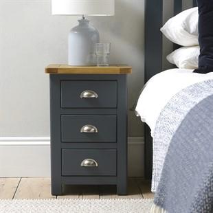 Westcote Inky Blue 3 Drawer Bedside