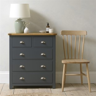 Westcote Inky Blue 2 Over 3 Drawer Chest