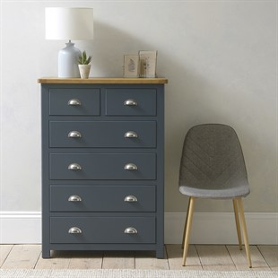 Westcote Inky Blue 2 Over 4 Drawer Chest