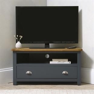 Westcote Inky Blue Corner TV Unit - Up to 44''