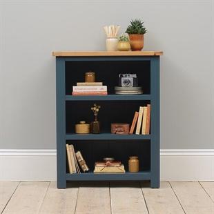 Westcote Inky Blue Small Bookcase
