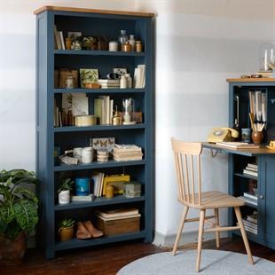 Westcote Inky Blue Large Bookcase