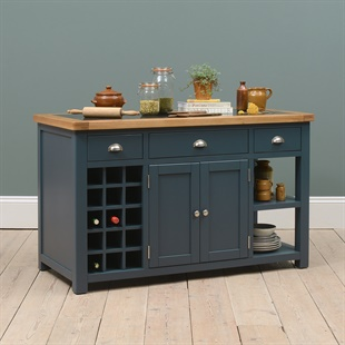 the kitchen furniture company painted westcote blue large island with wine rack kitchen islands stunning oak pine painted furniture the