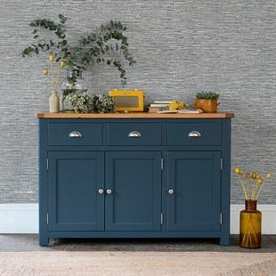 Westcote Inky Blue Large 3 Door Sideboard