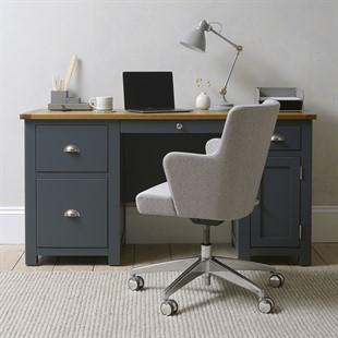 Westcote Inky Blue Double Pedestal Desk