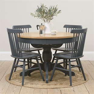 Westcote Inky Blue 110-145cm Round Extending Table