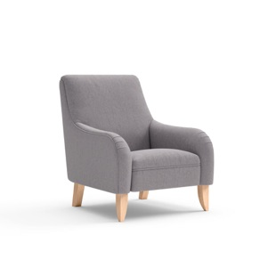 Mabel - Armchair - Mid grey - Cotswold Weave