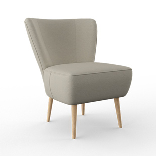Abbey - Armchair - Mid grey - Cotswold Weave