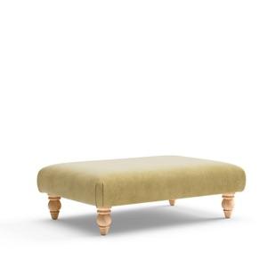 Clara - Foot stool - Ochre - Classic Velvet