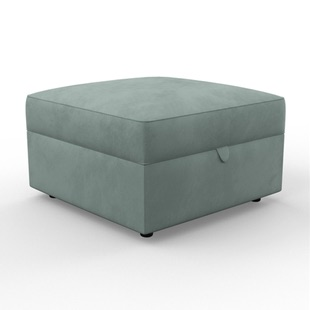 Molly - Foot stool - Washed Teal - Classic Velvet
