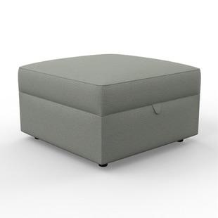 Molly - Foot stool - Grey marl - Rustic Weave