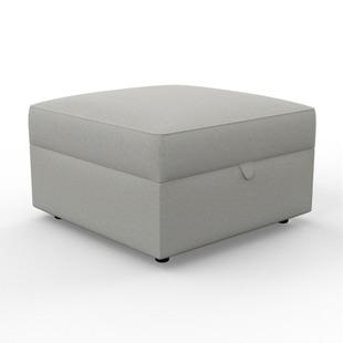 Molly - Foot stool - Mid grey - Chunky Cotton