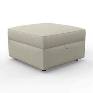 Molly - Foot stool - Chrome - Coastal Linen