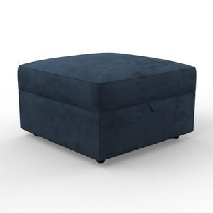 Molly - Foot stool - Deep blue - Matt Velvet