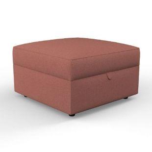 Molly - Foot stool - Blush marl- Rustic Weave