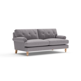 Talbot - 2.5 Seater - Mid grey - Cotswold Weave