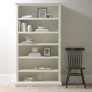 Stow Warm White Large Bookcase