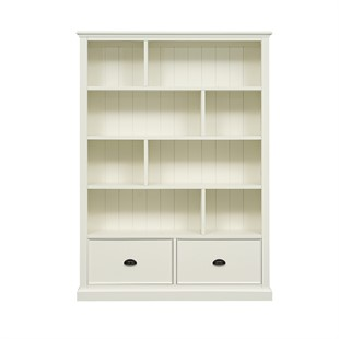 Stow Warm White NEW Large Bookcase with Drawers