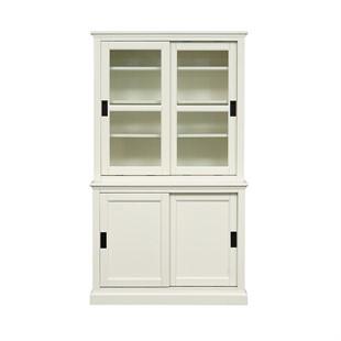 Stow Warm White NEW Sliding Door Dresser