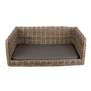 Luxury Rattan Dog Bed - Large