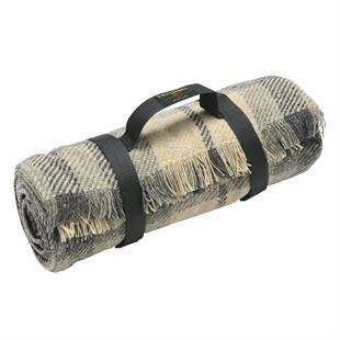 Picnic Rug Roll -  Charcoal/Grey Check