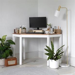 Chalford Warm White Corner Desk