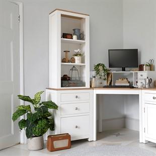 Chalford Warm White Desk Top Bookcase