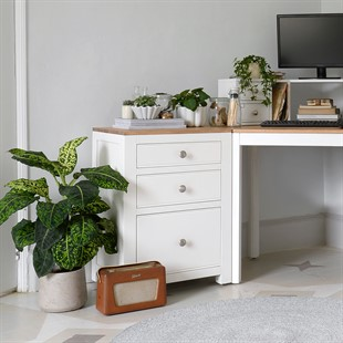 Chalford Warm White 3 Drawer Filing Cabinet