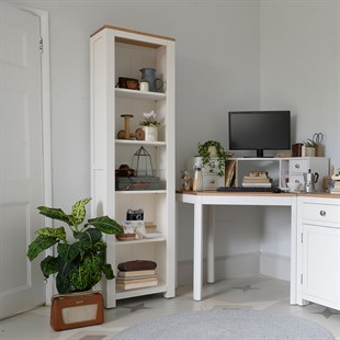 Chalford Warm White Tall and Slim Bookcase