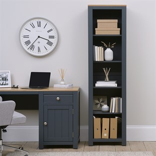 Chalford Inky Blue Large Bookcase