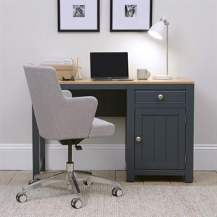 Chalford Inky Blue Single Pedestal Desk