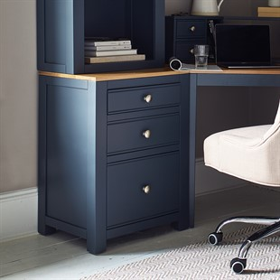 Chalford Inky Blue 3 Drawer Filing Cabinet
