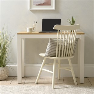Chalford Warm White Large Simple Desk