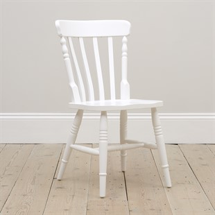 Ellwood Pure White Farmhouse Kitchen Chair