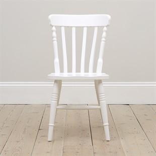 Farmhouse Pure White Kitchen Chair