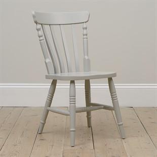 Farmhouse Dove Grey Kitchen Chair