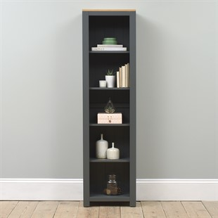 Chalford Dark Grey Large Bookcase