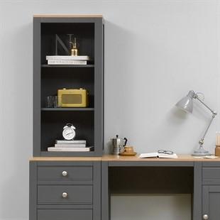 Chalford Dark Grey Desk Top Bookcase