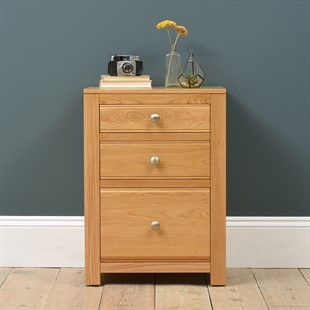 Chalford Oak 3 Drawer Filing Cabinet