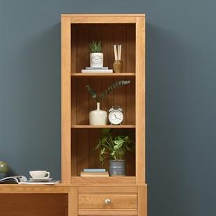 Chalford Oak Desk Top Bookcase