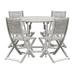 Baunton Dining Set - Round Table and 4 Chairs