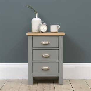 Simply Cotswold Storm Grey 3 Drawer Bedside