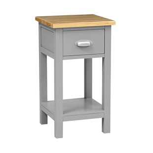 Simply Cotswold Storm Grey 1 Drawer Nightstand